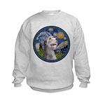 Starry Irish Wolfhound Kids Sweatshirt