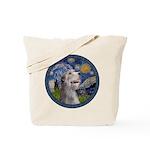 Starry Irish Wolfhound Tote Bag