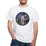 Starry Irish Wolfhound White T-Shirt