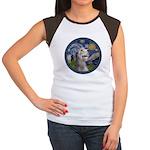 Starry Irish Wolfhound Women's Cap Sleeve T-Shirt