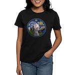 Starry Irish Wolfhound Women's Dark T-Shirt