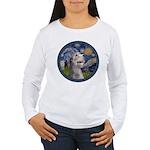 Starry Irish Wolfhound Women's Long Sleeve T-Shirt