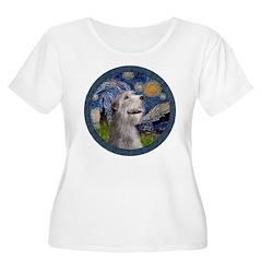 Starry Irish Wolfhound Women's Plus Size Scoop Nec