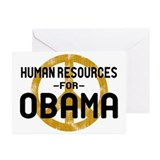 Human Resoueces for Obama Greeting Cards (Pk of 10