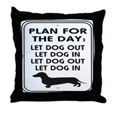 Plan For Day Throw Pillow