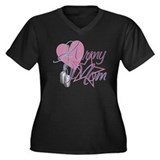 Army Mom Heart N Star Women's Plus Size V-Neck Dar