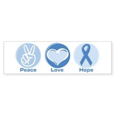 Peace LtBl Hope Bumper Sticker (10 pk)