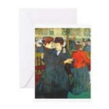 Two Women Dancing Greeting Card