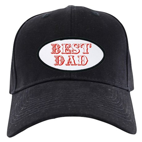Father's Day Best Dad Black Cap
