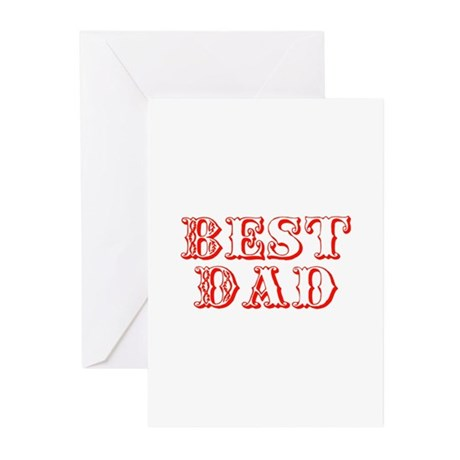 Father's Day Best Dad Greeting Cards (Pk of 10)