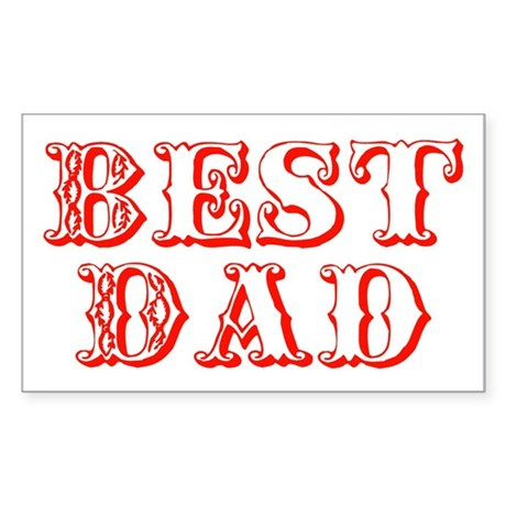 Father's Day Best Dad Rectangle Sticker