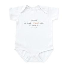 Caroline Bingley Orange Infant Bodysuit