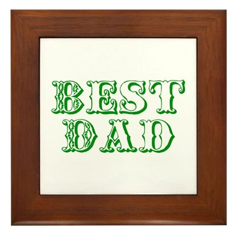 Father's Day Best Dad Framed Tile