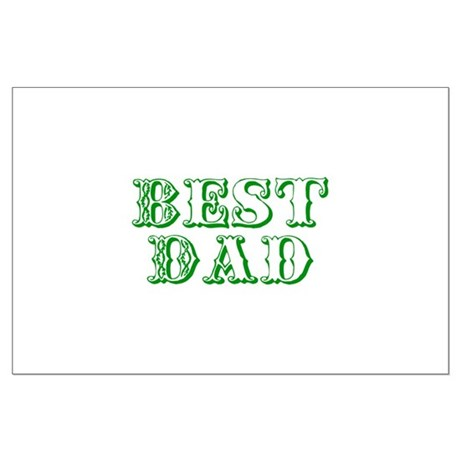 Father's Day Best Dad Large Poster