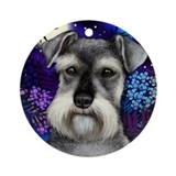 SCHNAUZER DOG FULL MOON Keepsake (Round)