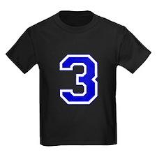 Varsity Font Number 3 Blue T
