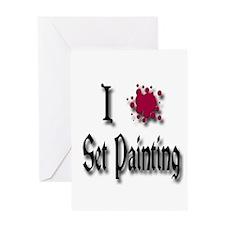 Love Set Painting Greeting Card