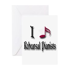 Love Rehearsal Pianists Greeting Card