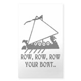 ROW, ROW, ROW YOUR BOAT.. Rectangle Sticker 50 pk