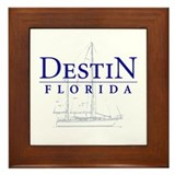 Destin Sailboat - Framed Tile