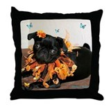 Pumpkin Ruff Throw Pillow