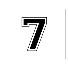 Varsity Font Number 7 Black Posters