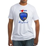 Police Boyfriend Fitted T-Shirt