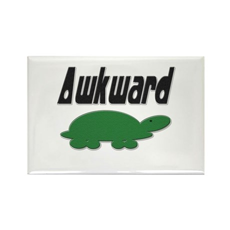 Awkward Turtle Rectangle Magnet