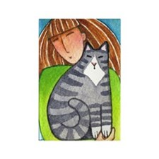 CAT LADY No. 3...Refrigerator Magnet (no text)