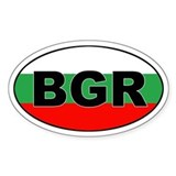 Bulgarian Flag (BGR) Oval Decal