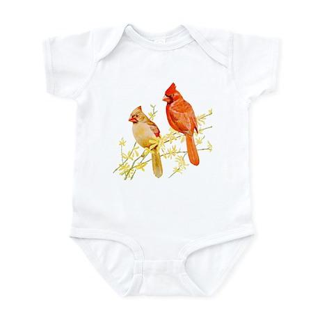 Red Cardinal Bird Infant Bodysuit