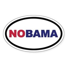 NOBAMA Euro Oval Decal