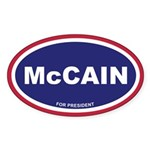 McCain Euro Oval Sticker