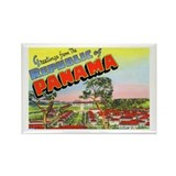 Panama Greetings Rectangle Magnet