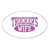 Trucker's Wife Oval Decal