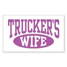 Trucker's Wife Rectangle Decal