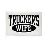 Trucker's Wife Rectangle Magnet