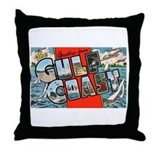 Gulf Coast Greetings Throw Pillow