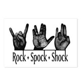 Rock Spock & Shock Postcards (Package of 8)