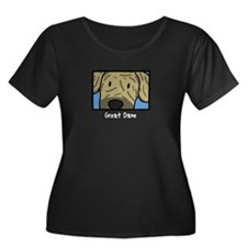 Anime Brindle Great Dane Women's Plus Size Dark T