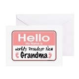 Hello New Grandma Greeting Card