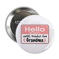 "Hello New Grandma 2.25"" Button"