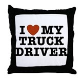 I Love My Truck Driver Throw Pillow