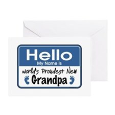 Hello New Grandpa Greeting Card