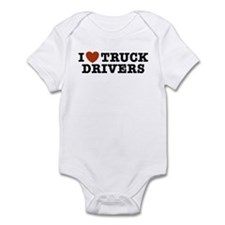 I Love Truck Drivers Infant Bodysuit