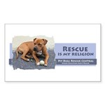 Rescue is my religion Rectangle Sticker 10 pk)