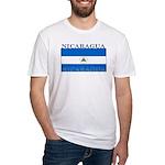 Nicaragua Nicaraguan Flag Fitted T-Shirt