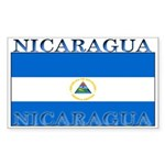 Nicaragua Nicaraguan Flag Rectangle Sticker
