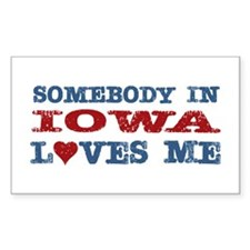 Somebody in Iowa Loves Me Rectangle Decal