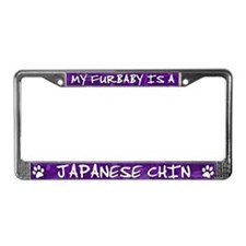 Furbaby Japanese Chin License Plate Frame